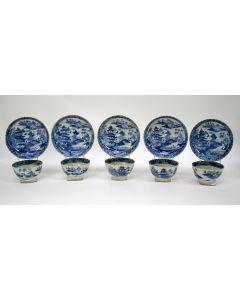 Chinese porseleinen kommen en schotels, Qianlong periode