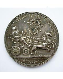 Penning ter gelegenheid van de inhuldiging van Stadhouder Willem IV als baron van Breda, 1737.