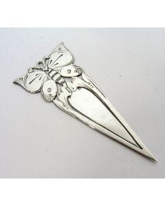 Zilveren bladwijzer, vlinder, ca. 1925