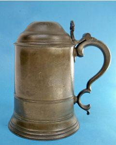 Engelse tinnen dekselkan, 19e eeuw