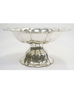 Zilveren fruitschaal, art deco