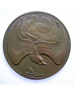 Jaarpenning VPK 1934 (#2), Lucht en water [Leendert Bolle]
