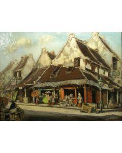 Henk Weyzig, Chinese wijk, Semarang, 1935