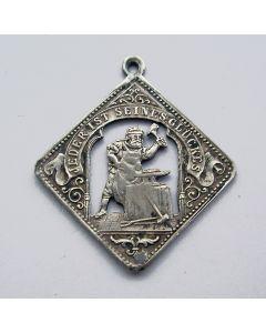 Zilveren gelukshanger met smid, Duitsland, 19e eeuw