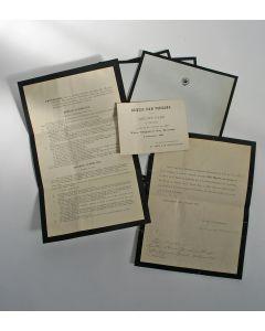 Documenten met betrekking tot de begrafenis van Z.M. Koning Willem III, gericht aan Baron L. Gericke van Herwijnen, 1890