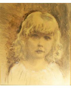 Jan Sluijters, meisjesportret, pasteltekening