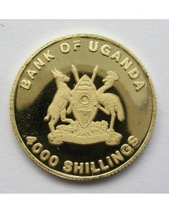 Uganda, gouden 4000 shillings [1997]