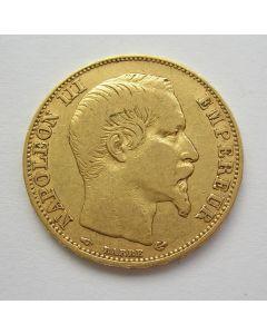 Frankrijk, 20 francs goud, 1857 A