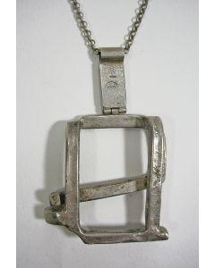 Modernistisch zilveren halssieraad, Menno Meijer ca. 1970