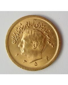 Iran/Perzië, gouden munt van 1 pahlavi, 1354 (= 1975)
