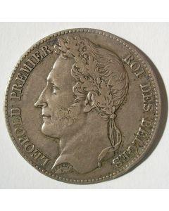 België, 5 francs 1848