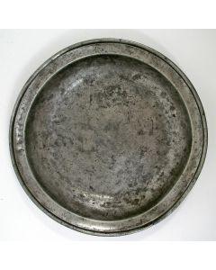 Diep tinnen bord, Venlo, ca. 1820