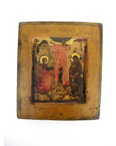 Russische icoon, de Annunciatie, ca. 1700