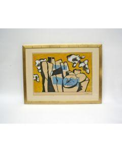 Fernand Léger, 'Les bûches', kleurenlitho, 1951
