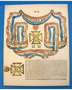 Bordspel, 'Het metalen kruis', ca. 1832