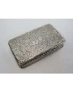 Zilveren snuifdoos, 1843