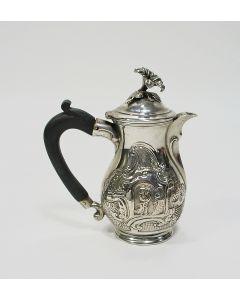 Zilveren dekselkannetje met classicistische voorstellingen, Daniel Friedrich von Mylius, Danzig ca. 1700/25