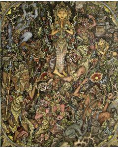 I Ketut Murtika, Batuan, Mythologische scène, gouache, ca. 1980