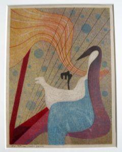 Harry van Kruiningen, Harpspeelster, kleurenets