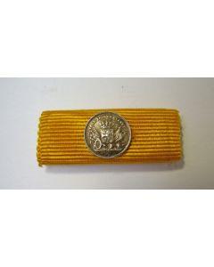 Medaille voor Langdurige Trouwe Dienst in zilver, miniatuur knoopsgatbaton