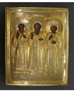 Russische icoon, De drie Patriarchen, ca. 1900