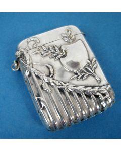 Zilveren zwavelstokdoosje, 19e eeuw