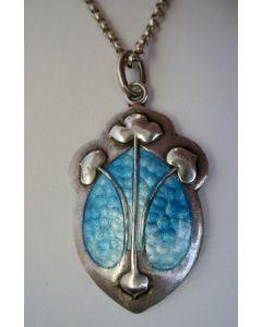 Geëmailleerde zilveren hanger, Arts & Crafts, 1908