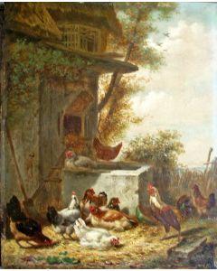 Henri de Beul, Hoenderstal, 1868