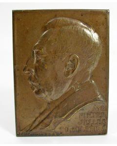 Plaquette, Pieter Jelles Troelstra, 1926  [door J.C. Wienecke]