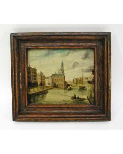 Hollandse School, Stadsgezicht Amsterdam, 18e eeuw