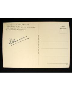 Ansichtkaart met handtekening van Dirk Hannema