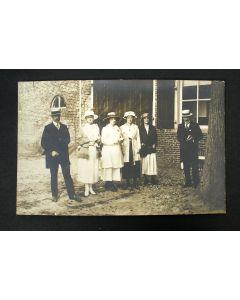 Fotokaart met vooraanstaande personen uit Amerongen, 1923