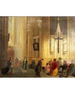 Vlaamse School, Kerkinterieur, 19e eeuw