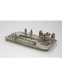 Miniatuur zilveren kegelbaan, Rinze Jans Spaanstra, Drachten, 19e eeuw