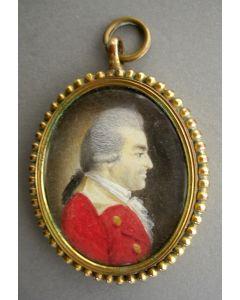 Portretminiatuur, mogelijk voorstellend de Pruisische generaal Otto Friedrich von der Groeben, 18e eeuw