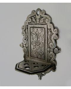 Miniatuur zilveren lepelrek, 17e eeuw