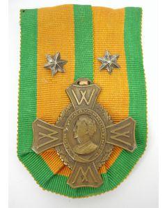 Oorlogsherinneringskruis, met twee sterren