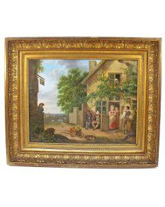 Julie Mouriau, Gezelschap bij een herberg, 1825