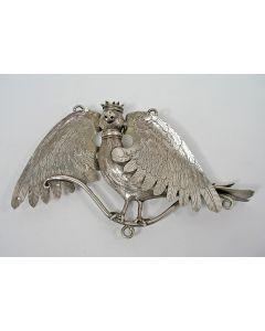 Zilveren koningsvogel van een Zuid-Nederlandse schutterij, 17e eeuw