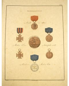 'Afbeeldingen der oudere en nieuwere thans bestaande ridderorden', boekwerk met 50 handgekleurde lithografieën, 1843
