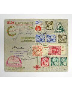 Poststuk, Kerstpostvlucht van De Snip naar West-Indië, December 1934