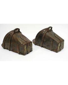 Stel smeedijzeren stijgbeugels, 19e eeuw