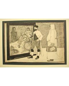 Spotprent op het winnen door Jan Sluijters van de Prix de Rome, 1904