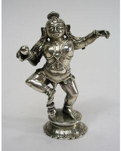 Zilveren beeldje met de voorstelling van Krishna, India, ca. 1900