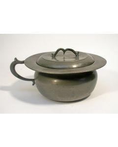 Tinnen pispot, Winschoten, 19e eeuw
