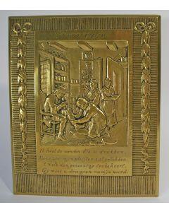 Bronzen plaquette, 'De chirurgijn', J.C. Wienecke, ca. 1930