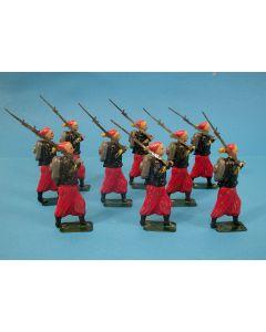 Groep blikken soldaten, pauselijke zoeaven, 19e eeuw