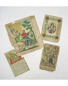 Vier bidprentjes, 18e eeuw