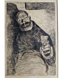 Willem de Zwart, 'De vrolijke drinker', ets