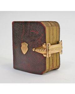 Miniatuur gebedenboekje met gouden slot, 19e eeuw